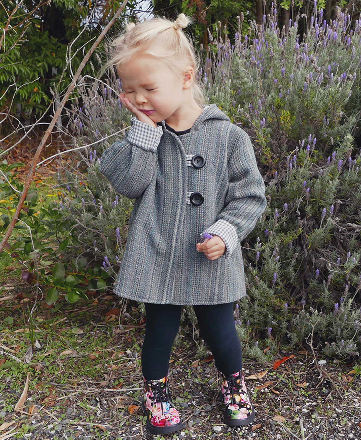 Awhi Coat sewing pattern by Below the Kowhai