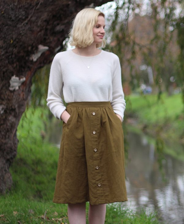 Women's Mānuka skirt sewing pattern by Below the Kōwhai