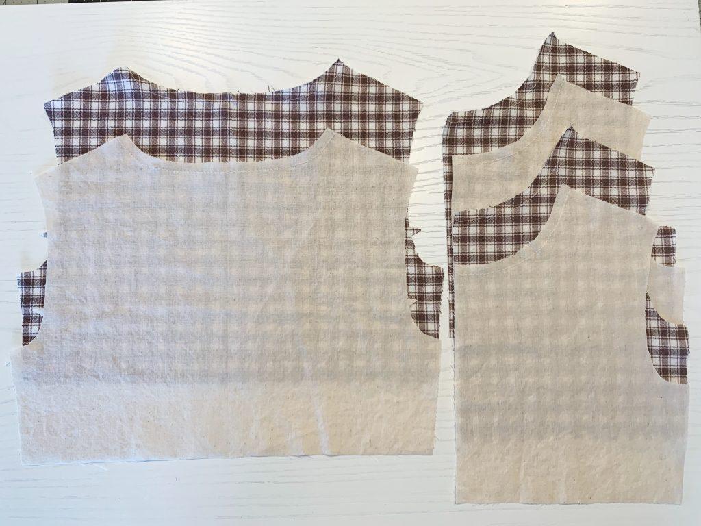 Sewing pattern fabric cut