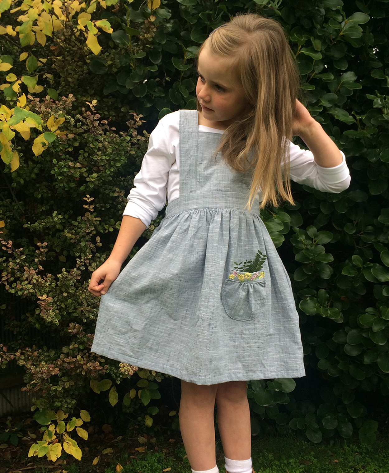 Tui Pinafore sewing pattern by Below the Kowhai