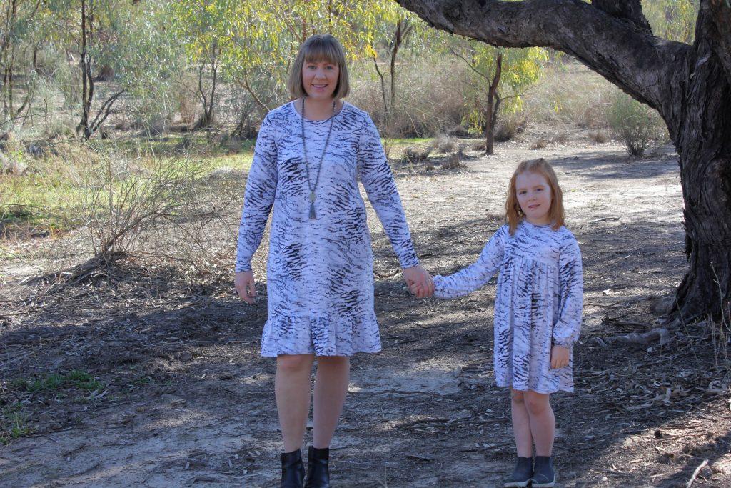 Pohutukawa Dress and BellBird Dress