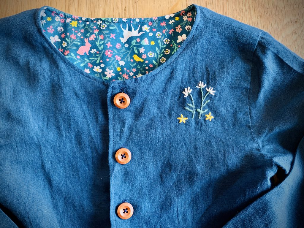 embroidery on Kauri Dress