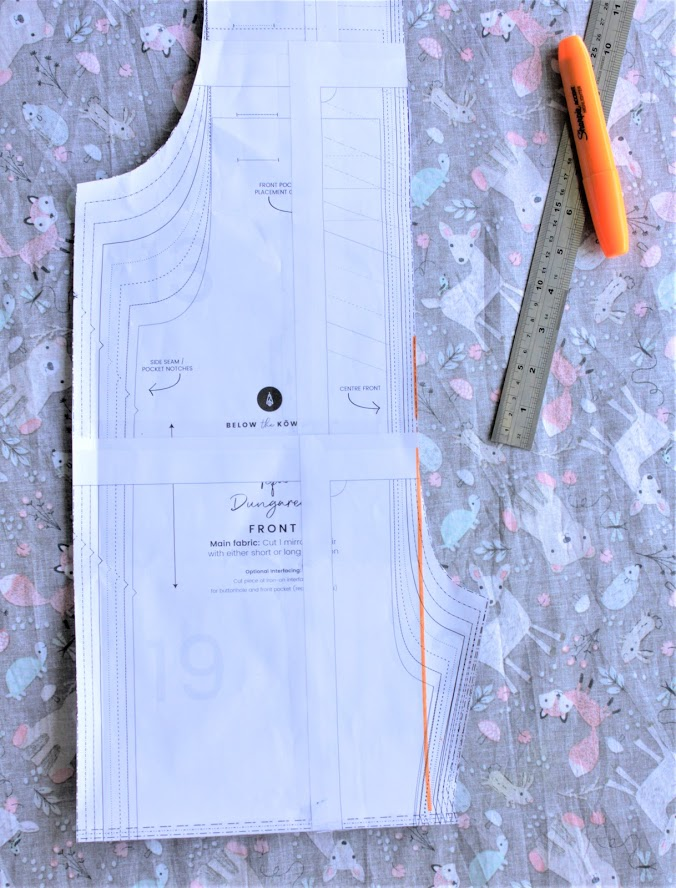 Tipa Dungaree sewing pattern by Below the Kowhai