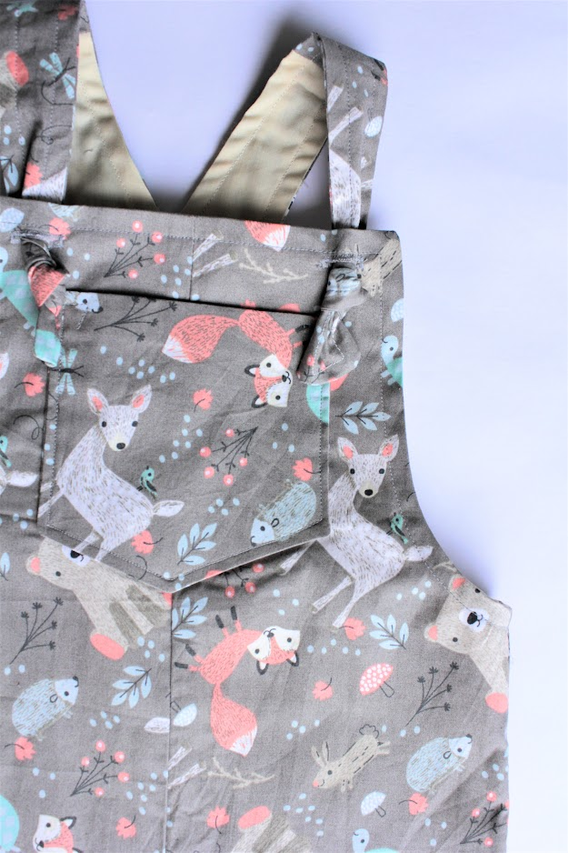 Finished Tipa Dungaree sewing pattern by Below the Kowhai