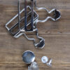 Dungaree Clips silver