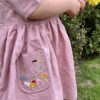 Spring Embroidery Pocket