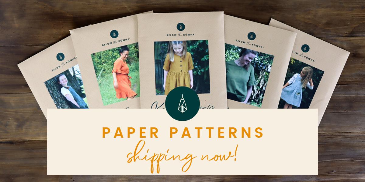 Paper Sewing Patterns by Below the Kōwhai