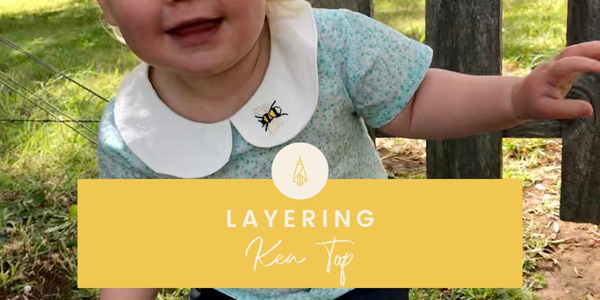 Kea Top sewing pattern by Below the Kowhai